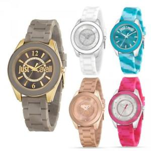【送料無料】orologio donna just cavalli just dream silicone colorato swarovski jc gold ros