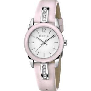 【送料無料】orologio donna breil liberty tw1392 vera pelle rosa bianco swarovski 50mt fiv