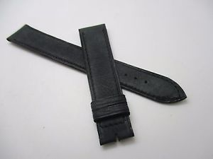 【送料無料】bracelet montre t18mm bleu gris en cuir dagneau souple marque c fournet