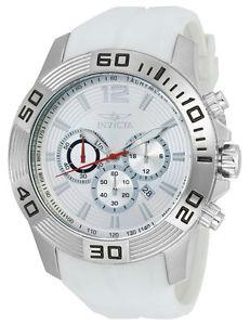 【送料無料】invicta pro diver 20295 mens round analog silver tone chronograph date watch