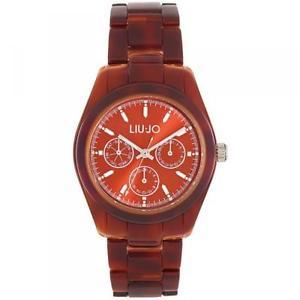 【送料無料】orologio donna liu jo luxury turtle tlj530 multifunzione policarbonato marrone