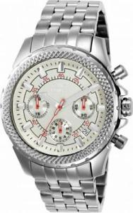 【送料無料】invicta signature 7167 mens round silver tone chronograoh date analog watch