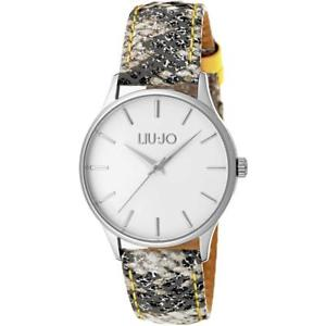 【送料無料】orologio donna liu jo luxury gea tlj1117 pelle pitonato silver giallo