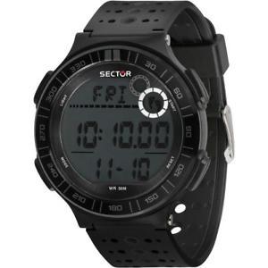 【送料無料】orologio uomo sector ex23 r3251512001 contapassi silicone nero chrono pedometro