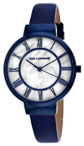 【送料無料】ted lapidus womens classic quartz blue stainless steelleather watch a0713karb
