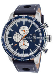 mens red line speed rush chronograph navy blue rl304c03bls ret595
