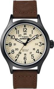 【送料無料】timex mens t49963 expedition scout brown watch
