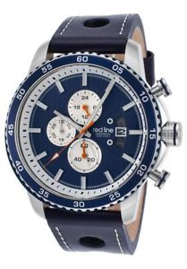 mens red line speed rush chronograph navy blue rl304c03bls ret595