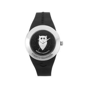 【送料無料】orologio roberto giannotti misteri della notte omn153 civetta swarovski nero