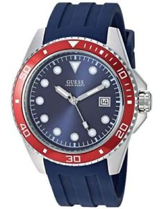 【送料無料】guess mens 44mm sport blue siicone watch u1109g2 brand usa seller