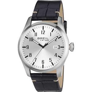 【送料無料】orologio breil tribe classic elegance uomo ew0233 pelle marron watch numeri