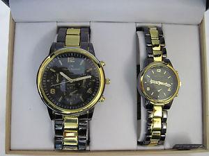 【送料無料】his mens and hers womans matching designer dress wrist watch watches gift set