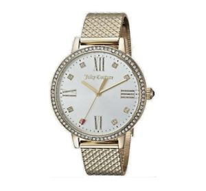【送料無料】 juicy couture 1901613 womens socialite mesh gold plated me watch