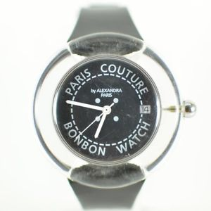 vintage mens 1990s paris couture bonbon clear swiss made watch