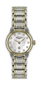 【送料無料】rotary womens two tone stainless steel bracelet quartz watch lb0260241l
