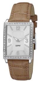 【送料無料】esprit damenuhr clarity white es103992002 analog leder braun