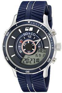 【送料無料】soamp;co york mens 50352 monticello analogdigital navy rubber watch