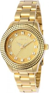 【送料無料】womens invicta 22882 angel gold tone stainless steel watch