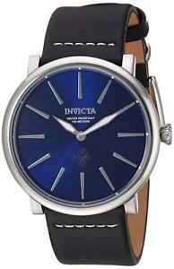 【送料無料】invicta mens iforce quartz stainless steel and leather casual watch