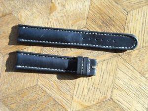 【送料無料】mdg vintage nos breitling leather strap 18 mm n3