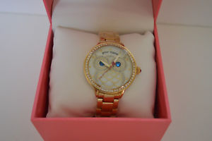 【送料無料】betsey johnson womens owl goldtone bracelet watch 20mm