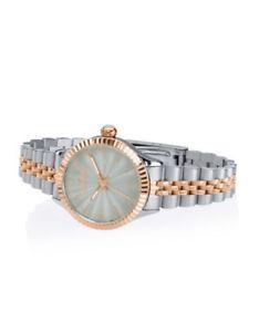 【送料無料】watch lady orologio hoops silver amp; gold ref 2560lsrg01 nuovo grey elegante