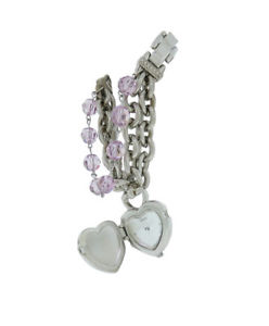 【送料無料】guess 95216l1 womens petite lavender beads silver tone pendant analog watch