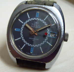 【送料無料】 tell fleurier datum handaufzug kal fhfst 964 ca 1970er jahre