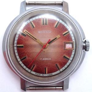 【送料無料】soviet vostok windup watch rare edition round caseussr 1985 vgc*us seller*724