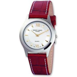 【送料無料】women charles hubert leather wrist watch