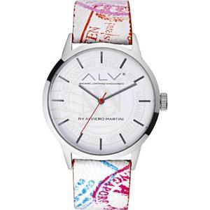 【送料無料】orologio donna alv by alviero martini alv0009 pelle bianco