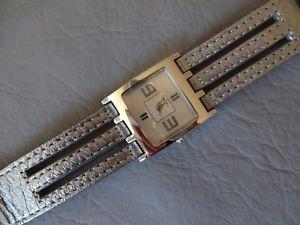 maty montre bracelet cuir grise argent quartz femme fille grey girl woman watch