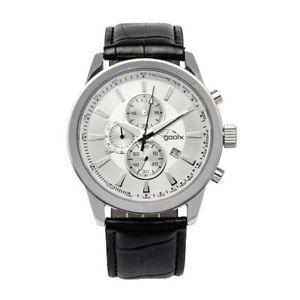 【送料無料】orologio cronografo uomo gooix gx0600301b cassa acciaio cinturino in pelle nero