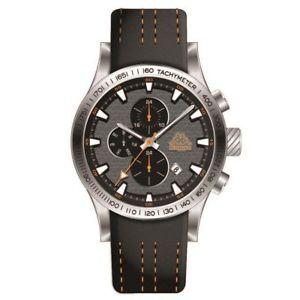 【送料無料】orologio multifunzione uomo kappa kp1434mc acciaio pelle arancio silver data