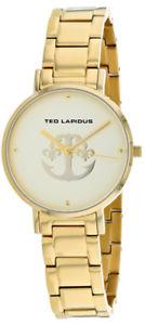 【送料無料】ted lapidus womens classic quartz gold tone stainless steel watch a0742ptpx