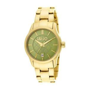 【送料無料】orologio solo tempo donna liu jo tess tlj939 cinturino acciaio pvd oro verde