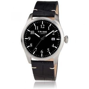 【送料無料】orologio breil tribe classic elegance ew0193 pelle nera watch numeri datario
