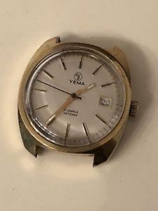 【送料無料】montre yema plaqu or watch vintage