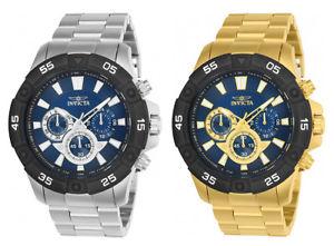 【送料無料】invicta mens pro diver quartz chronograph 100m stainless steel watch