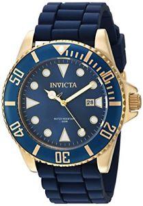 【送料無料】invicta mens 44mm pro diver quartz stainless steel and silicone watch 90304
