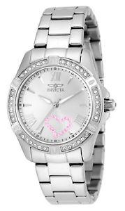 【送料無料】invicta 21416 ladys crystal accented bezel steel bracelet watch