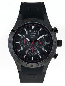 【送料無料】liujo orologio maschile camp608 luxury gomma crononografo originale nero affare