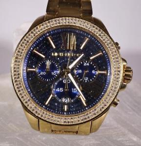 womens michael kors wren blue crystal watch mk6291 42 mm