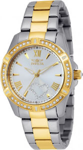【送料無料】invicta womens angel quartz 100m two tone stainless steel watch 21418