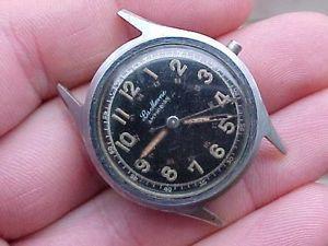 【送料無料】vintage la marne parker amphibian mans wristwatch military type
