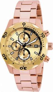 【送料無料】invicta specialty 17755 mens round rose gold tone chronograph date analog watch