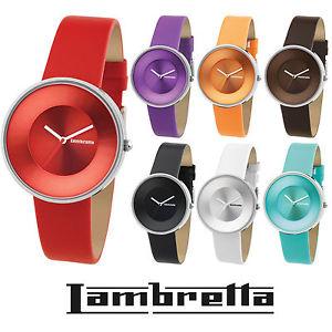 【送料無料】genuine lambretta quartz watch leather strap 7 colours iconic sixties 60s retro