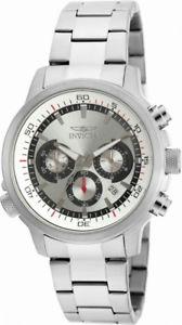 【送料無料】invicta specialty 19239 mens round analog chronograph date silver tone watch