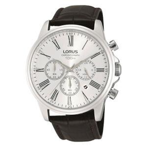【送料無料】lorus gents chronograph leather strap watch rt389dx9
