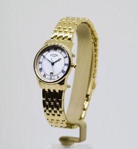 【送料無料】 rotary ladies genuine swiss gold plated bracelet watch